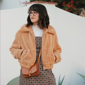 Urban Outfitters Cropped Teddy Jacket 🐻
